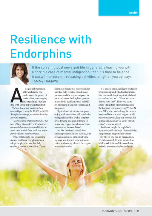 Wealth Resilience with Endorphins article